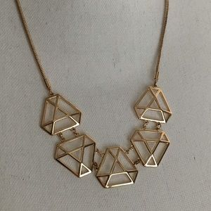 DELIA'S Gold Geometric Statement Necklace Trendy